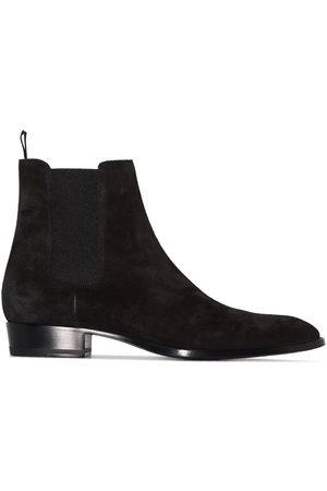 Saint Laurent Wyatt 30mm suede Chelsea boots