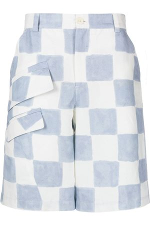 Jacquemus Checkerboard-pattern cargo shorts