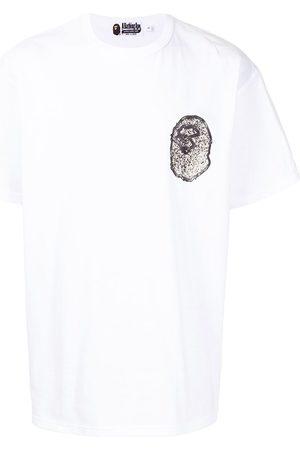 A Bathing Ape Homem T-shirts & Manga Curta - Logo-print cotton t-shirt