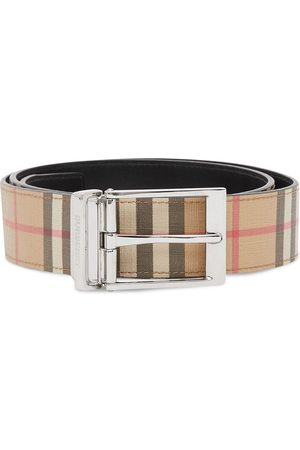 Burberry Reversible check leather belt