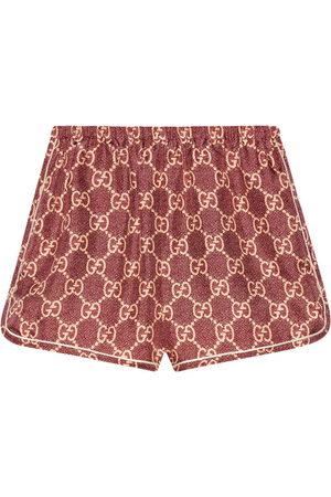 Gucci Senhora Calções - GG Supreme short shorts