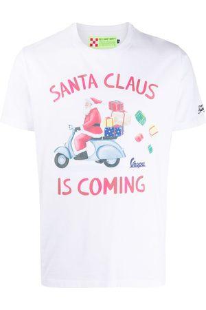 MC2 SAINT BARTH Homem T-shirts & Manga Curta - Christmas slogan t-shirt