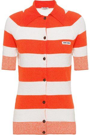 Miu Miu Senhora Camisolas - Striped knitted jumper