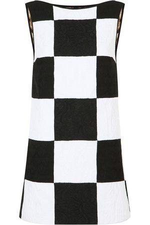 Dolce & Gabbana Patchwork jacquard sleeveless dress