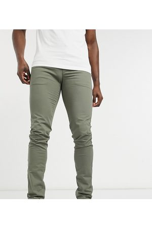 Farah Elm tall organic cotton chino in khaki-Green