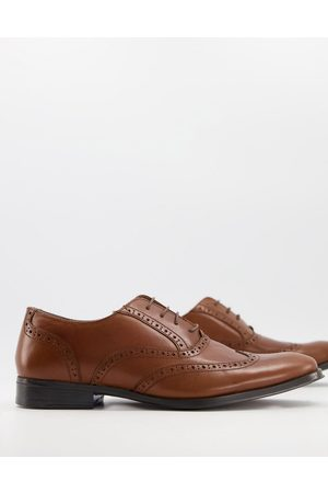 ASOS Homem Oxford & Moccassins - Oxford brogue shoes in tan leather