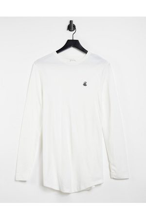 River Island Homem Manga comprida - Long sleeve t-shirt in white