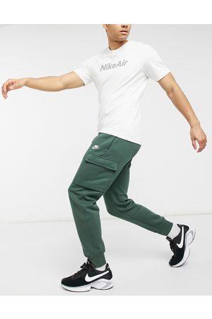 Nike Club cuffed cargo joggers in khaki-Green