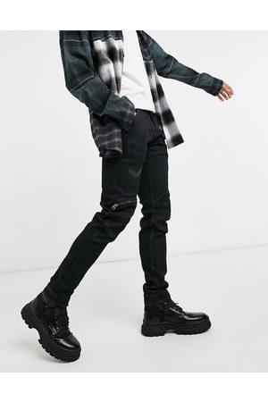 G-Star 3D slim jeans in black-Blue