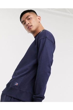 Russell Athletic Frank sweatshirt with small logo in navy