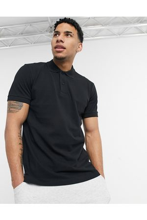Selected Polo in black