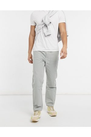 Weekday Darien Canvas Trousers in light green