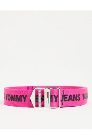 Tommy Hilfiger Explorer logo belt in pink