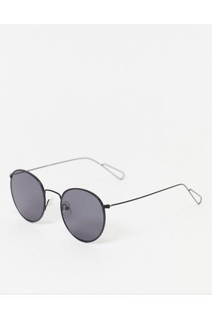 Weekday Explore Rounded Sunglasses in Black