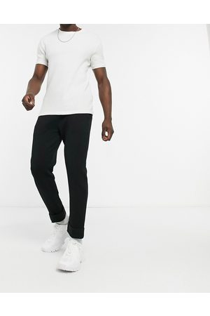 Kappa Banda dedalo taping tapered joggers in black