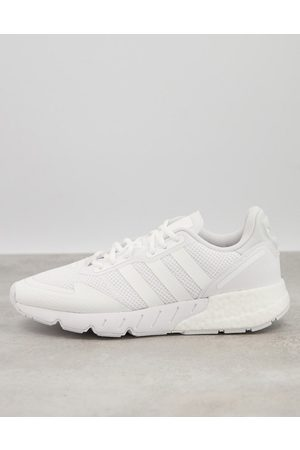 adidas ZX 1K boost trainers in triple white