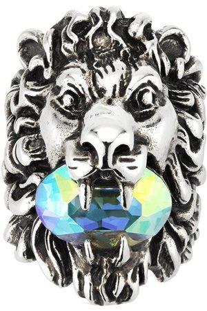 adidas Crystal -embellished lion head ring