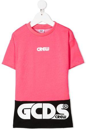 adidas Colour-block logo print T-shirt dress