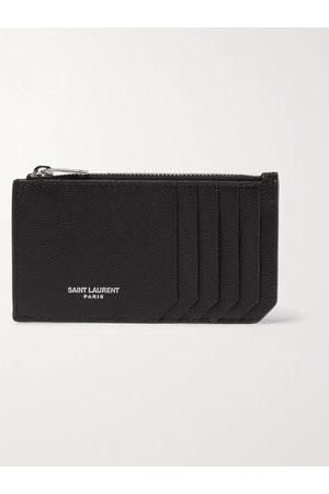 Saint Laurent Homem Bolsas & Carteiras - Pebble-Grain Leather Cardholder