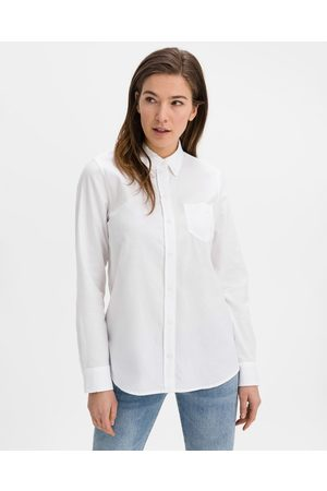 GAP Fitted Boyfriend Oxford Shirt White