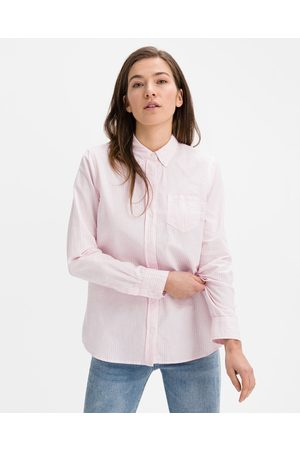 GAP Fitted Boyfriend Oxford Shirt Pink