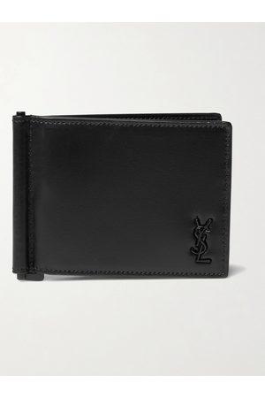 Saint Laurent Homem Bolsas & Carteiras - Logo-Appliquéd Leather Wallet with Money Clip