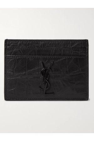 Saint Laurent Homem Bolsas & Carteiras - Logo-Appliquéd Croc-Effect Leather Wallet