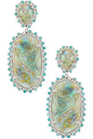 Kendra Scott Parsons Statement Earring in - Blue,Metallic Silver. Size all.