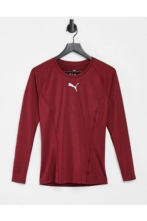 PUMA Liga long sleeve baselayer t-shirt in red