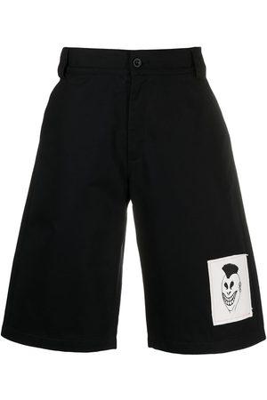 PACCBET Homem Calções - Logo-patch denim shorts