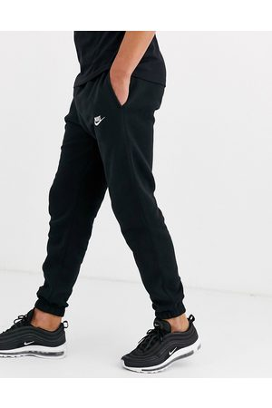 Nike Club casual fit cuffed joggers in black
