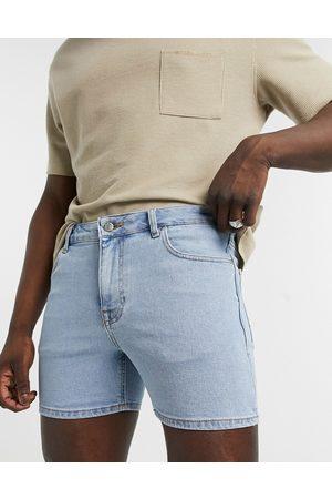 ASOS Skinny denim shorts in light wash blue in shorter length