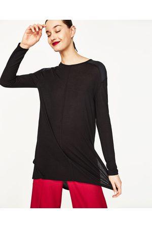 Senhora T-shirts & Manga Curta - Zara T-SHIRT ABERTURAS LATERAIS - Disponível em mais cores
