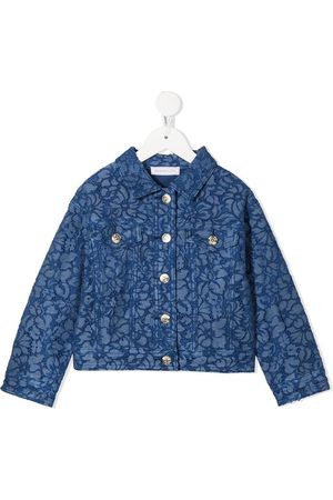 MONNALISA Menina Casacos - Denim-lace jacket