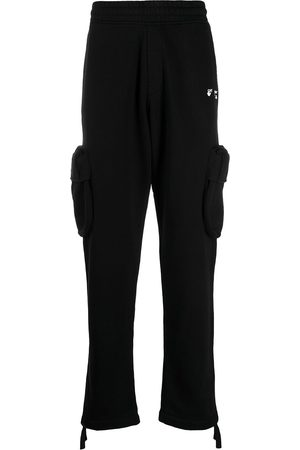 OFF-WHITE Homem Calças Cargo - Logo-print cargo track pants