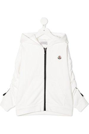 Moncler Logo patch cotton hoodie