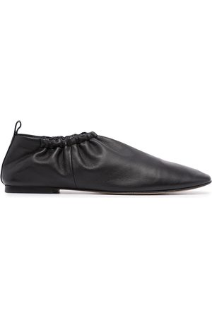 3.1 Phillip Lim Ruched-details leather slippers