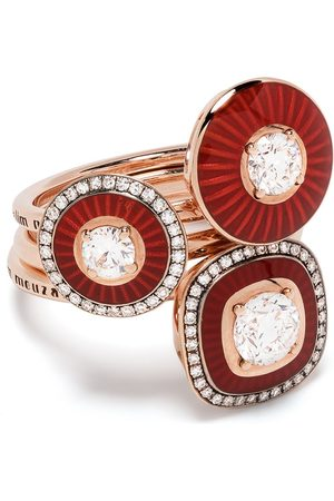 SELIM MOUZANNAR 18kt rose gold Mina diamond ring set