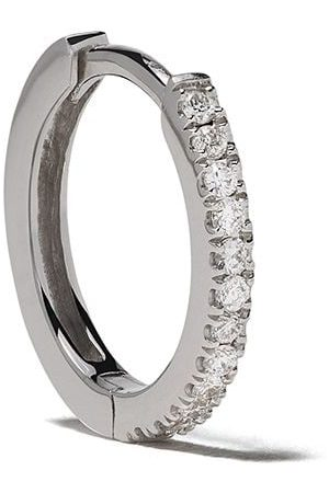 White Bird Senhora Brincos - 18kt diamond Margot large hoop single earring