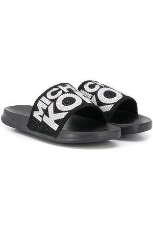 Michael Kors Bebé Sapatos - Embellished logo slippers