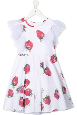 MONNALISA Menina Vestidos de Festa - Ruffled strawberry print dress