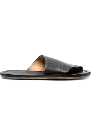 MARSÈLL Cornice grained-leather sandals