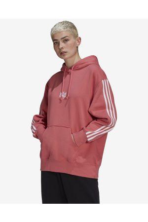 adidas Loungewear Adicolor 3D Trefoil Oversize Sweatshirt Pink