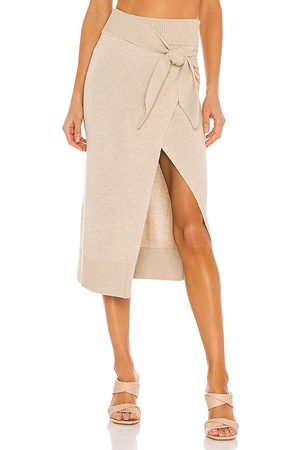 Camila Coelho Mimmi Wrap Skirt in - Neutral. Size L (also in M, S, XL, XS).