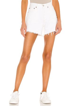 AGOLDE Parker Long Short in - White. Size 23 (also in 24, 25, 26, 27, 28, 29, 30, 31, 32).