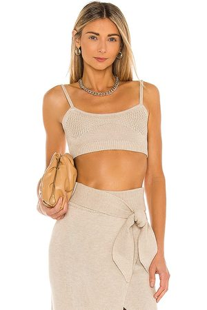 Camila Coelho Mimmi Cropped Tank in - Neutral. Size L (also in M, S, XL, XS).