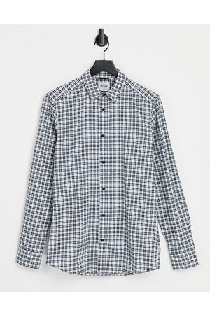 Only & Sons Check shirt in white