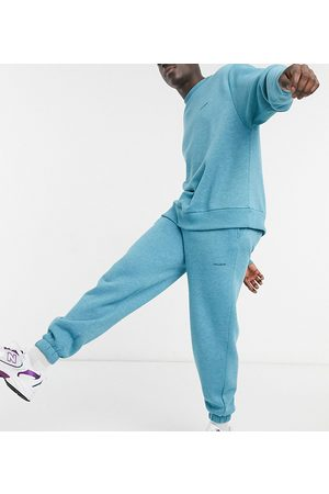 COLLUSION Joggers in blue marl fabric co-ord