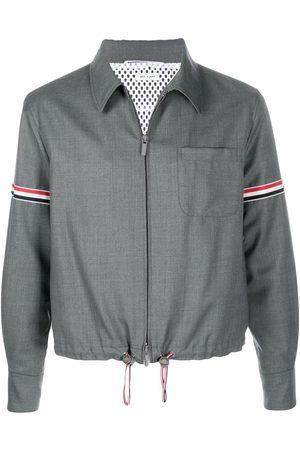 Thom Browne Homem Formal - Striped zip-up shirt jacket