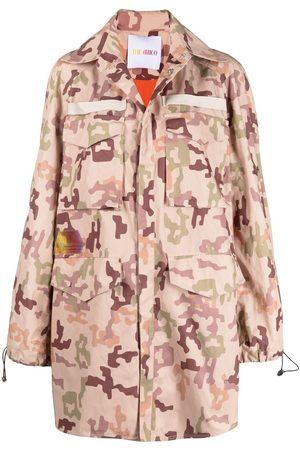 The Attico Camouflage-print parka